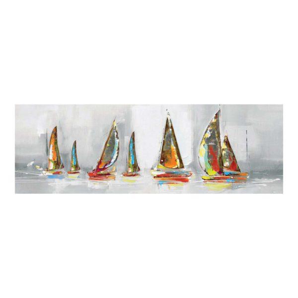 tableau bateaux colorés