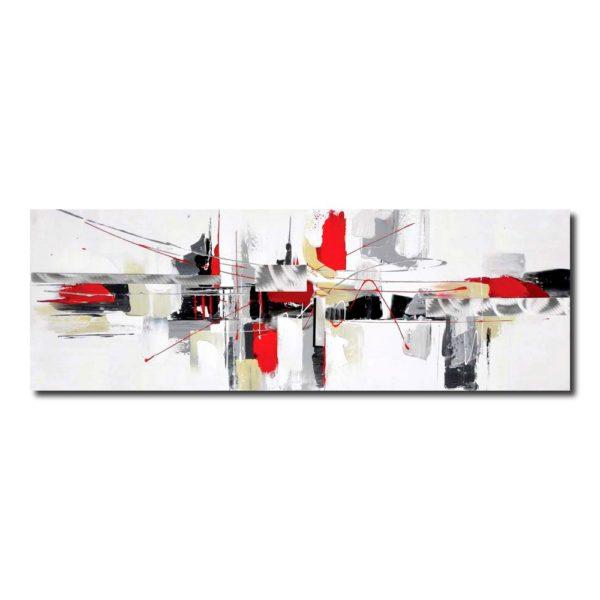 tableau rouge et blanc abstrait