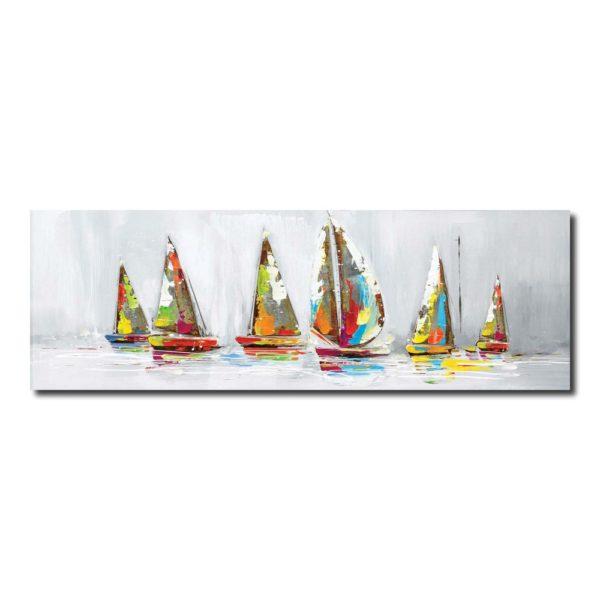 déco bateaux multicolore
