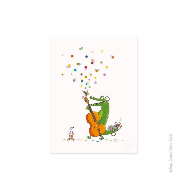 affiche pour enfant crocodile