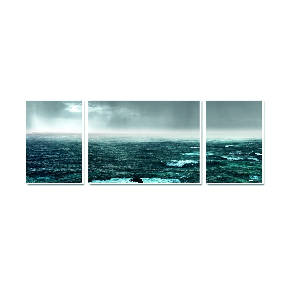 tableau paysage de mer -triptyque sur toile - ambiance cadres quimper