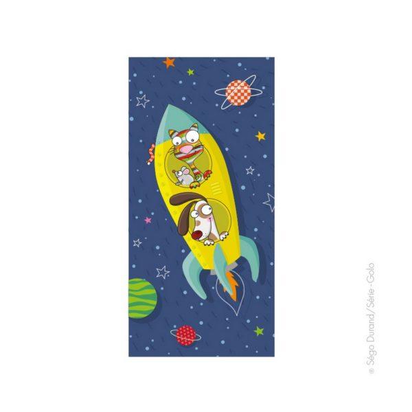 tableau chambre enfant fusée