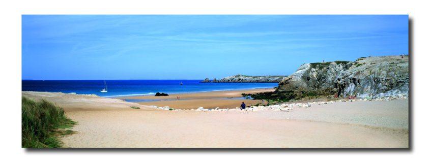 tableau de la plage de Port Bara à Quiberon Bretagne