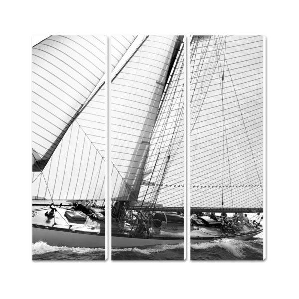 photo classic yacht noir et blanc