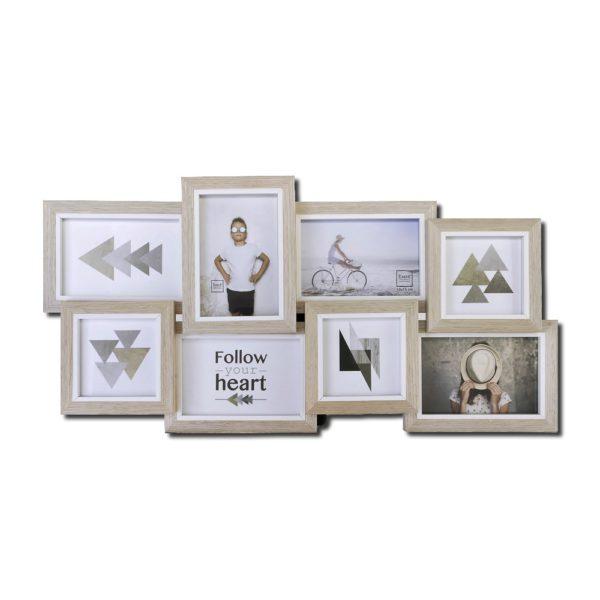 cadre bois pour 8 photos