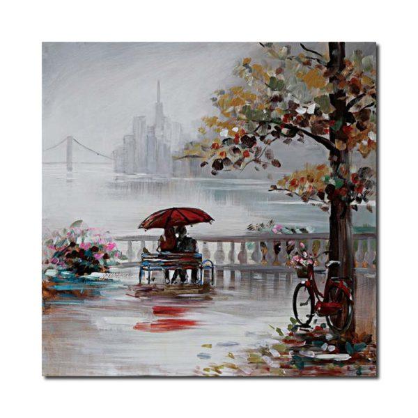 peinture scene new york