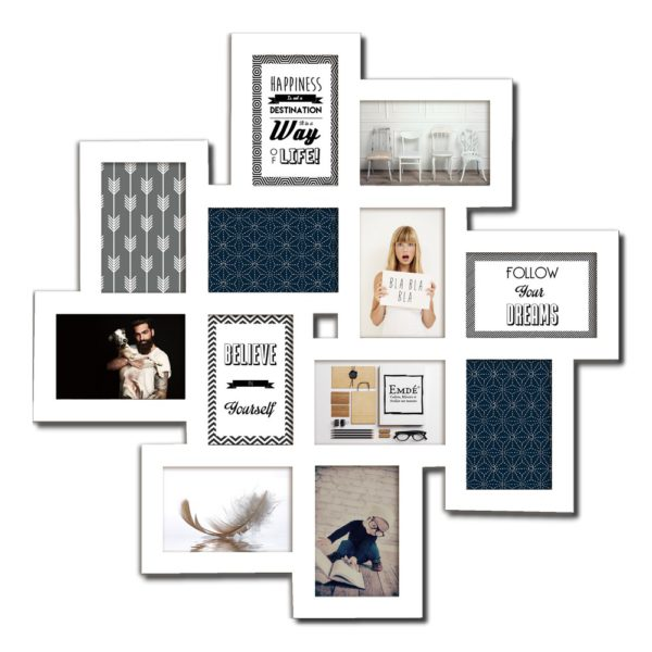 cadre multi-photo blanc