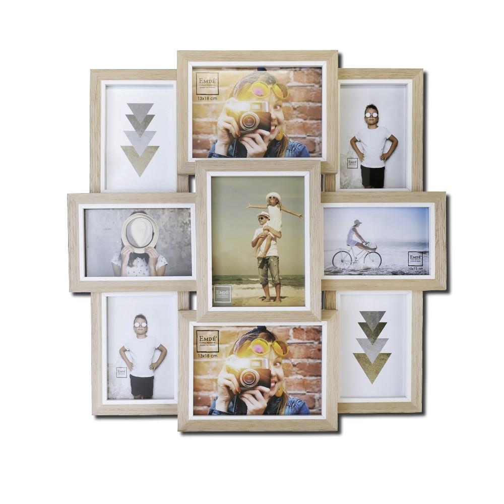 p le m le original en bois pour 9 photos 10x15cm ambiance. Black Bedroom Furniture Sets. Home Design Ideas
