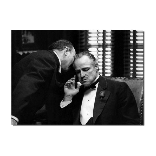affiche film le parrain avec Marlon Brando
