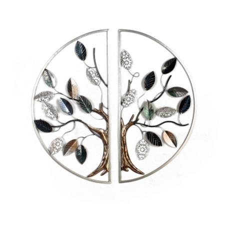 décoration diptyque arbre en métal