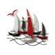 decoration murale en métal bateaux