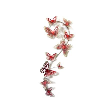 decoration papillon rouge