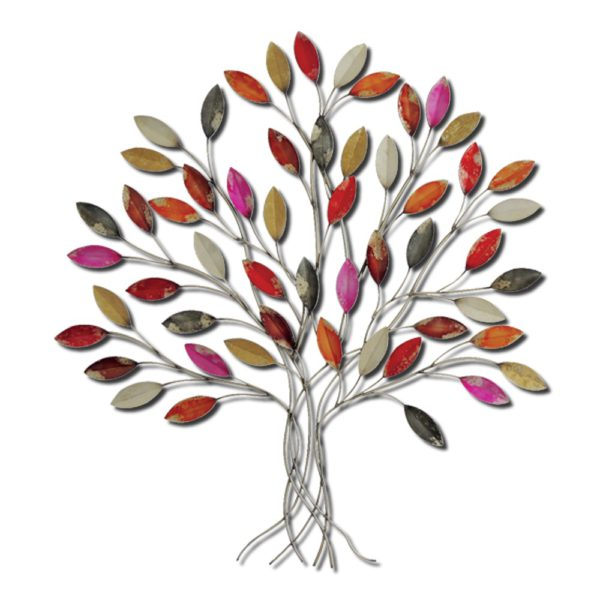 grande decoration en metal arbre feuille