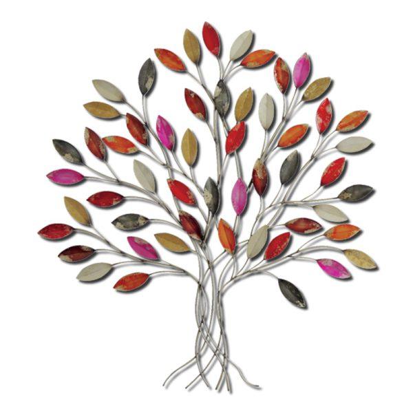grande decoration en metal arbre feuille