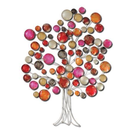 grande décoration en métal arbre colore