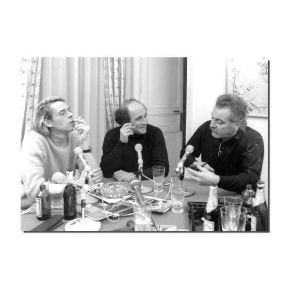 affiche Brel, Ferré, Brassens en noir et blanc