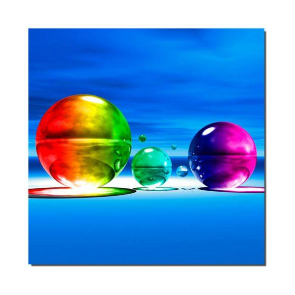 affiche boules colorees