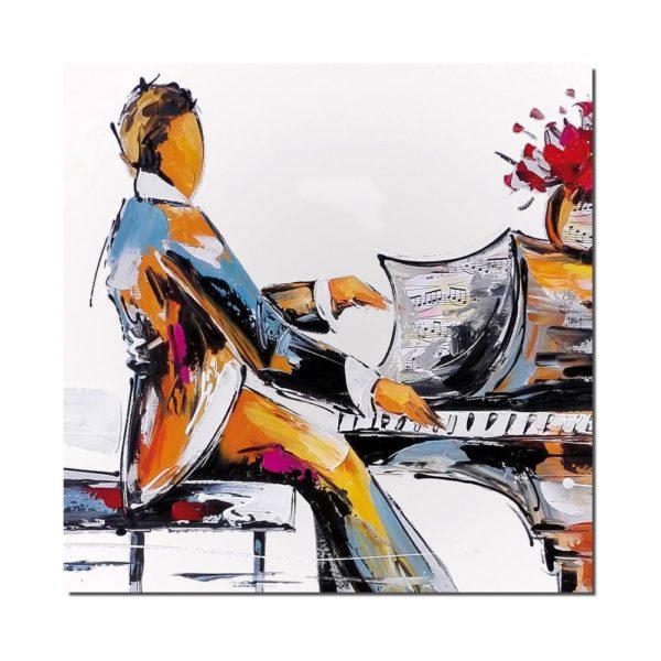 peinture pianiste moderne
