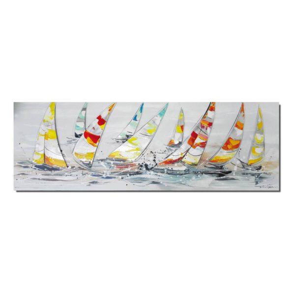 peinture moderne voiliers colorés