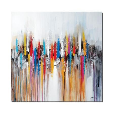 toile abstraite multicolore