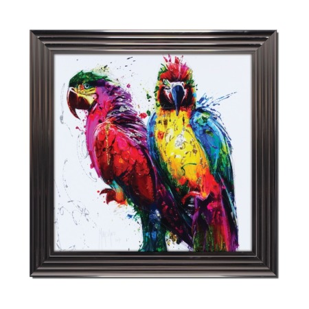 tableau murciano perroquets