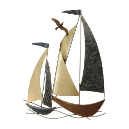 decoration marine voiliers en metal