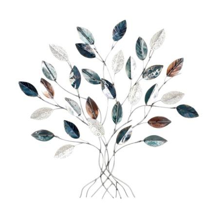 décoration murale arbre en métal