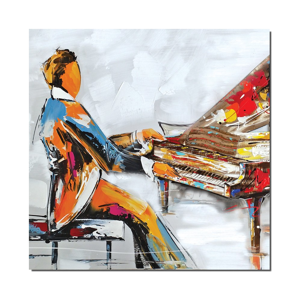 Tableau moderne pianiste- Peinture theme