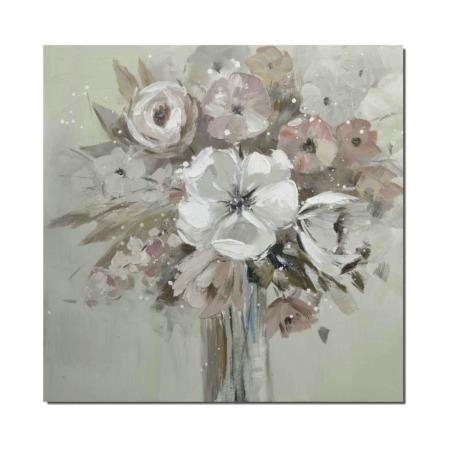 tableau bouquet de fleurs blanches