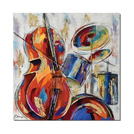 tableau moderne theme musique