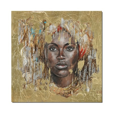 tableau ethnique visage de femme