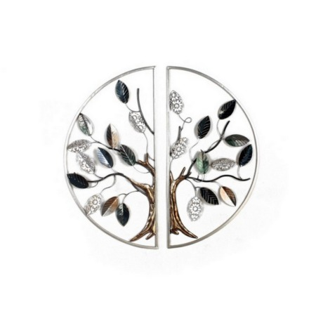 deco murale metal arbre