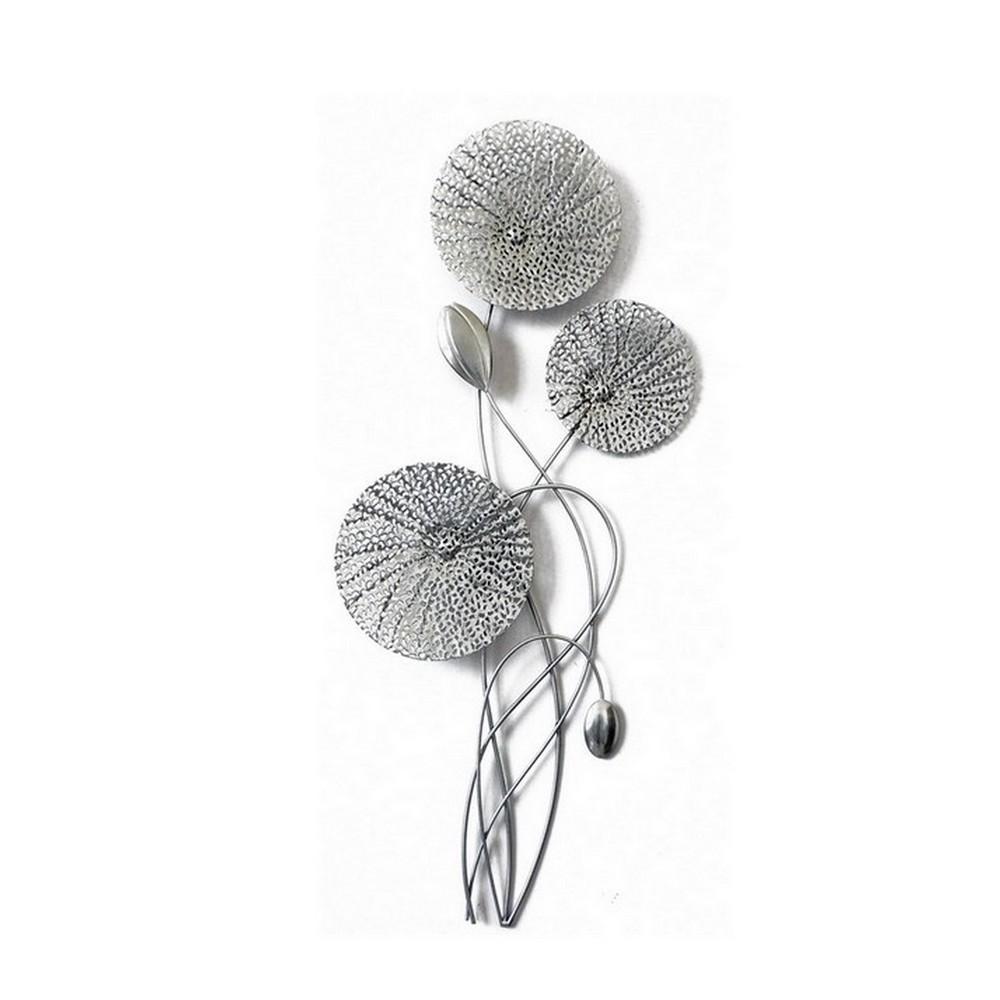 Deco Metal Fleur Argent Ambiance Cadres Quimper