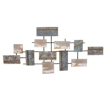 deco murale abstraite bois et metal quimper