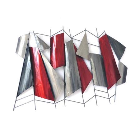 grande deco rouge et grise en metal
