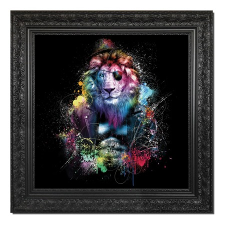 tableau lion colore sylvain binet