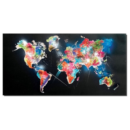 tableau carte du monde moderne