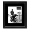 cadre affiche steve mcqueen moto