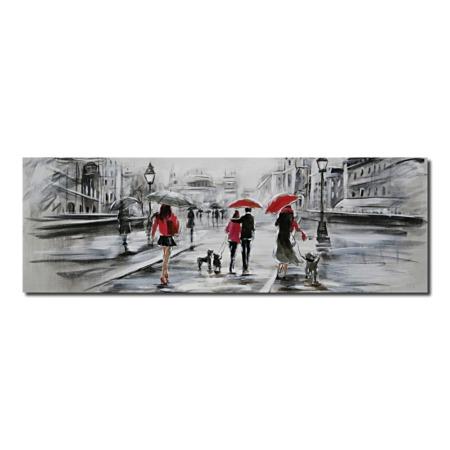 tableau urbain rouge et noir
