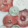 deco en metal disques rouges