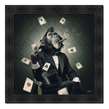Tableau Singe Poker Sylvain binet