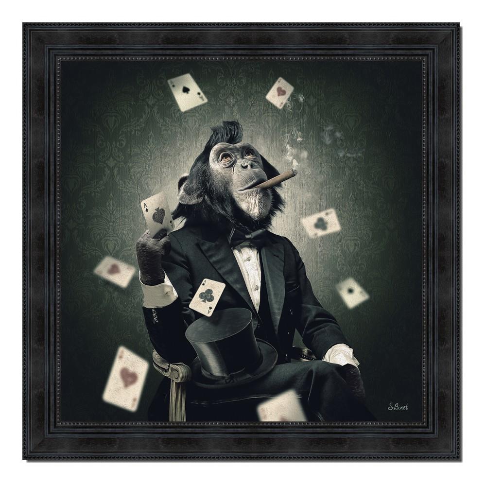 Ambiance Et Style Tableau tableau singe poker sylvain binet