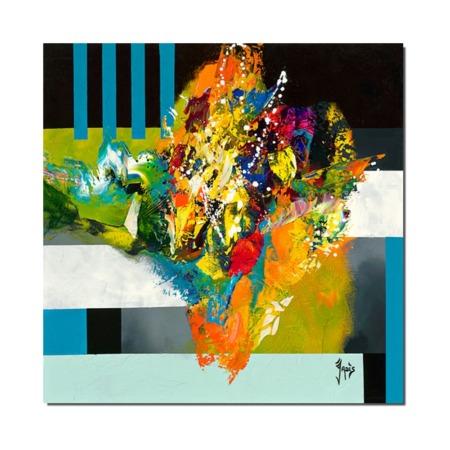 tableau plexiglas abstrait colore
