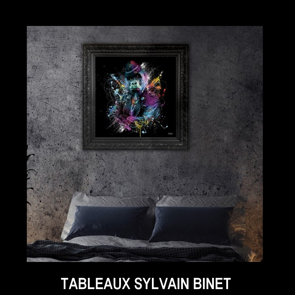 tableau singe sylvain binet chambre