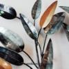 deco metal arbre noir argent dore