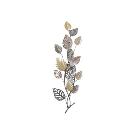 deco metal branche feuilles