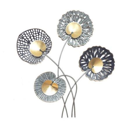 deco metal fleurs moderne