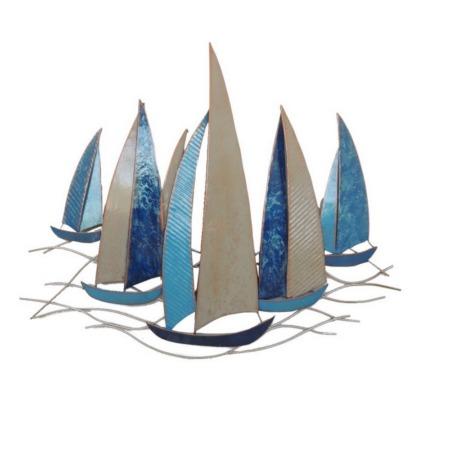 deco metal voiliers bleu