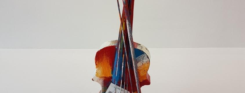 decoration violon coloré à poser
