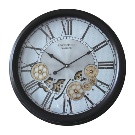 horloge ronde decorative a engrenage